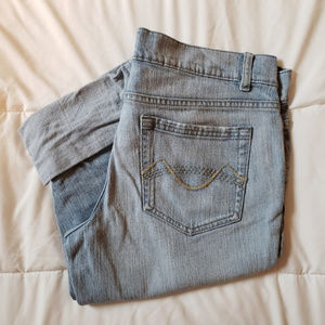 MOSSIMO Cuffed Denim Capris Cropped Pants Size 13